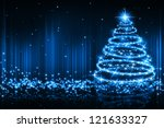 the best christmas golden tree... | Shutterstock . vector #121633327