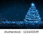 the best christmas golden tree...   Shutterstock . vector #121633339