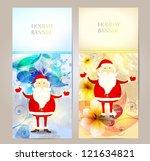 holiday background. retro santa ... | Shutterstock .eps vector #121634821