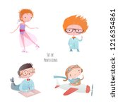set of characters. funny... | Shutterstock .eps vector #1216354861