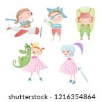 set of characters. funny... | Shutterstock .eps vector #1216354864