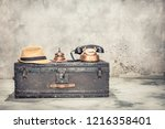vintage old classic travel... | Shutterstock . vector #1216358401