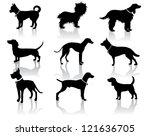 Dog Silhouettes Vector No Open...