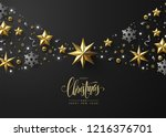 christmas background with... | Shutterstock .eps vector #1216376701