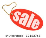 Sale tag on white background, there is no copyright infringement - stock photo