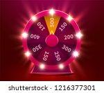 wheel of luck or fortune.... | Shutterstock .eps vector #1216377301
