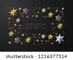 christmas background with frame ... | Shutterstock .eps vector #1216377514