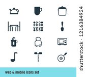 vector illustration of 12... | Shutterstock .eps vector #1216384924