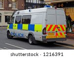 Uk Police Riot Van In City...