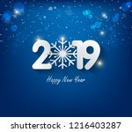 happy new year 2019  year of... | Shutterstock . vector #1216403287