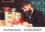 homeschooling concept. teacher...   Shutterstock . vector #1216416424