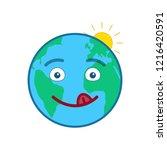 happy world globe isolated... | Shutterstock .eps vector #1216420591