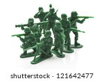 Miniature Toy Soldiers On Whit...