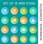 e commerce web icons on... | Shutterstock .eps vector #1216433731