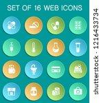 drug store web icons on... | Shutterstock .eps vector #1216433734