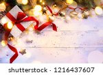 christmas gift   holidays... | Shutterstock . vector #1216437607
