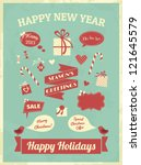 vintage style design elements... | Shutterstock .eps vector #121645579