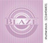 blaze pink emblem | Shutterstock .eps vector #1216456831