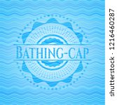 bathing cap water wave emblem...   Shutterstock .eps vector #1216460287