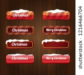 christmas vector red glossy... | Shutterstock .eps vector #1216466704