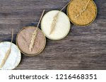 different flour of wheat cereal ... | Shutterstock . vector #1216468351