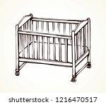 cute rail carrycot nap design... | Shutterstock .eps vector #1216470517