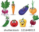 cartoon vegetables | Shutterstock .eps vector #121648015