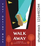 walk away vector illustration... | Shutterstock .eps vector #1216482244