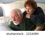 an older couple snuggle... | Shutterstock . vector #1216484