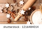 baking christmas cookie | Shutterstock . vector #1216484014
