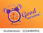 good morning. energetic ... | Shutterstock .eps vector #1216484941