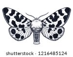 hand drawn butterfly tattoo.... | Shutterstock .eps vector #1216485124