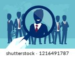 vector concept of a corporate... | Shutterstock .eps vector #1216491787