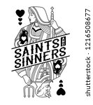 saints   sinners | Shutterstock .eps vector #1216508677
