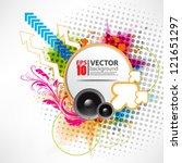 eps10 vector abstract grunge... | Shutterstock .eps vector #121651297