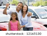 Family Collecting New Car From...