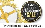 christmas sale banner. luxury... | Shutterstock .eps vector #1216514821