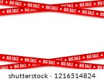 red ribbons for christmas sale... | Shutterstock .eps vector #1216514824