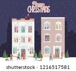 christmas scene  snowy city at...   Shutterstock .eps vector #1216517581