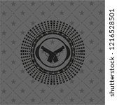crossed pistols icon inside...   Shutterstock .eps vector #1216528501