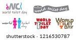 world toilet day 19 november... | Shutterstock .eps vector #1216530787