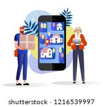 vector illustration. characters ...