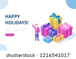 santa claus character and... | Shutterstock .eps vector #1216541017