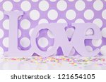 Purple Love Background With Dots