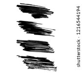vector set of grunge brush... | Shutterstock .eps vector #1216544194