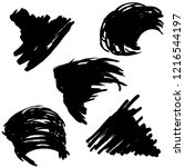 vector set of grunge brush... | Shutterstock .eps vector #1216544197
