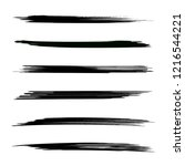 vector set of grunge brush... | Shutterstock .eps vector #1216544221