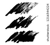 vector set of grunge brush... | Shutterstock .eps vector #1216544224