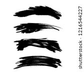vector set of grunge brush... | Shutterstock .eps vector #1216544227