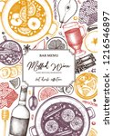 mulled wine design. merry... | Shutterstock .eps vector #1216546897